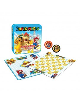 Super Mario Boardgame Checkers & Tic-Tac-Toe Mario vs. Bowser Collector's Game