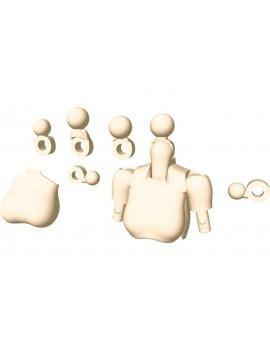 Megami Device M.S.G. Model Kit Accesoory Set 01 Tops Set Skin Color A 2 cm