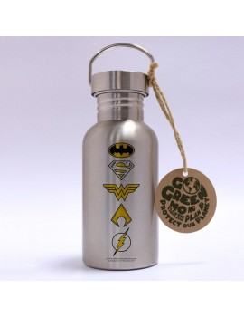 DC Comics Stainless Steel Water Bottle Logos