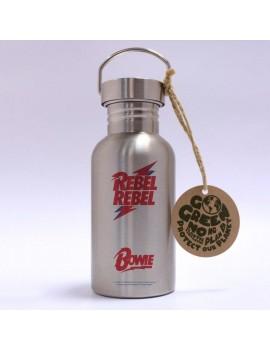 David Bowie Stainless Steel Water Bottle Rebel