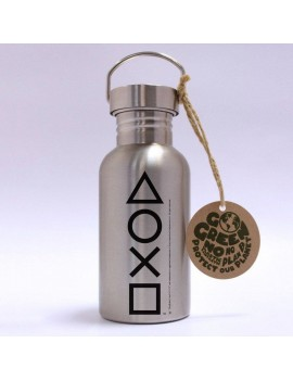 PlayStation Stainless Steel Water Bottle Buttons