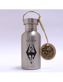 The Elder Scrolls V: Skyrim Stainless Steel Water Bottle Dragon Symbol