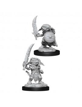 Pathfinder Battles Deep Cuts Unpainted Miniatures Goblin Fighter Male Case (6)