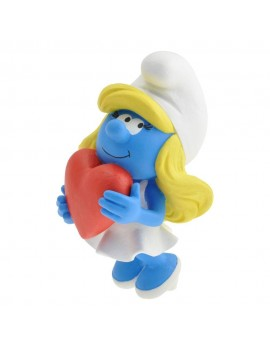 The Smurfs Collector Collection Statue Smurfette Holding A Heart 15 cm
