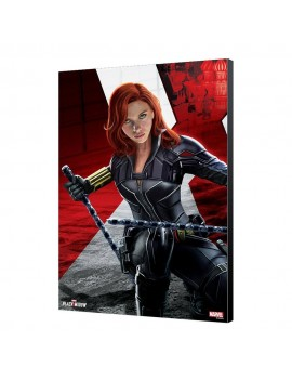 Black Widow Movie Wooden Wall Art BW Kneeling 34 x 50 cm