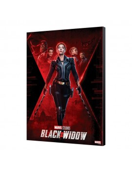 Black Widow Movie Wooden Wall Art BW Movie Poster 34 x 50 cm