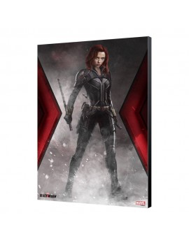 Black Widow Movie Wooden Wall Art BW Smoke 34 x 50 cm