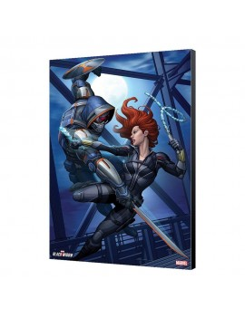 Black Widow Movie Wooden Wall Art Black Widow vs Taskmaster 34 x 50 cm