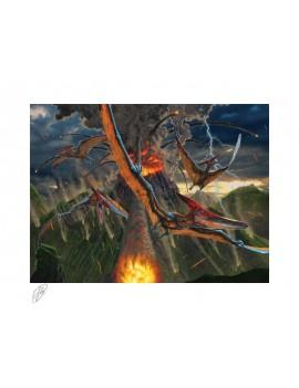 Original Artist Series Art Print Eruption by Vincent Hie 41 x 51 cm - unframed