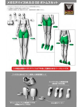 Megami Device M.S.G. Model Kit Accesoory Set 02 Bottoms Set White 2 cm