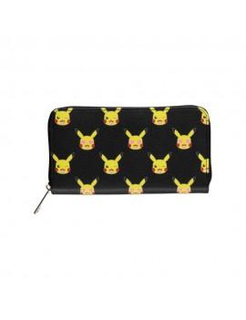 Black Widow Zip Around Wallet Pikachu AOP