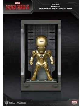 Iron Man 3 Mini Egg Attack Action Figure Hall of Armor Iron Man Mark XXI 8 cm