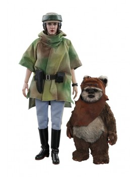 Star Wars Episode VI Movie Masterpiece Action Figure 2-Pack 1/6 Princess Leia & Wicket 15-27 cm