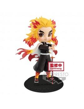 Demon Slayer Kimetsu no Yaiba Q Posket Mini Figure Kyojuro Rengoku Ver. A 14 cm