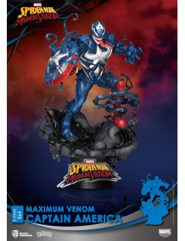 Marvel Comics D-Stage PVC Diorama Maximum Venom Captain America 16 cm