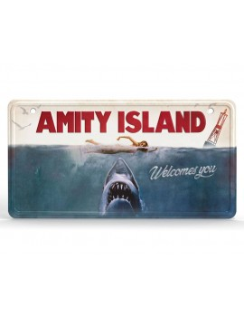 Jaws Metal Sign Movie Poster