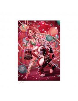 DC Comics Art Print Harley Quinn & Poison Ivy 46 x 61 cm - unframed