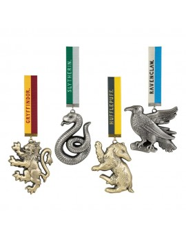 Harry Potter Tree Ornaments Hogwarts Mascots 4-Pack