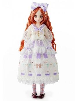 Obitsu Seifuku Keikaku Doll Sewing Book Doll Yaezakashi no Cotton Candy Lavender 24 cm