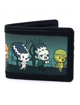 Universal Monsters by Loungefly Wallet Chibi AOP