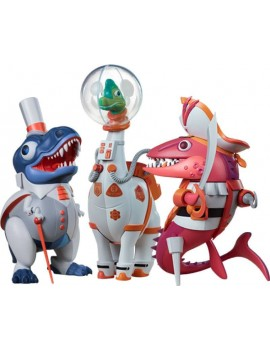 Whaleontology Designer Series Vinyl Statues Dino Set by Tom Whalen 24 cm