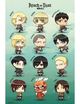 Attack on Titan Poster Pack Chibi Characters 61 x 91 cm (5)