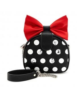 Disney by Loungefly Crossbody Minnie Polka Big Red Bow