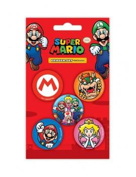 Super Mario Eraser 5-Pack Case (12)