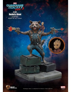Guardians of the Galaxy 2 Life-Size Statue Rocket & Groot 128 cm
