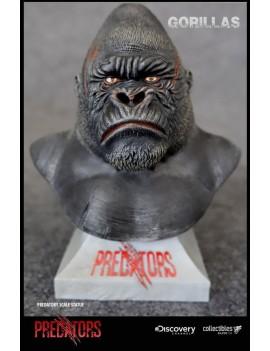 Predators Predatory Scale Bust Silverback Gorilla 14 cm