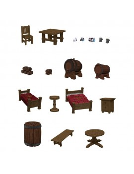 D&D Icons of the Realms pre-painted Miniatures The Yawning Portal Inn - Beds & Bottles