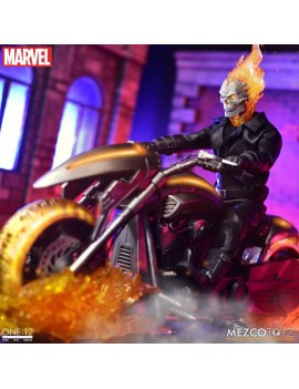 Ghost Rider Action Figure & Vehicle with Sound & Light Up 1/12 Ghost Rider & Hell Cycle