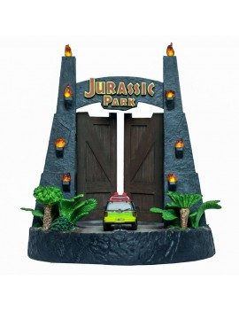 Jurassic Park Gates Environment Sculpture 20 x 28 cm