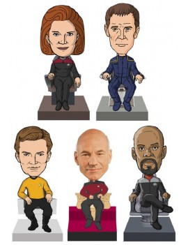 Star Trek Monitor Mate Bobble-Heads 10 cm Captains Box Set