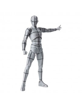 S.H. Figuarts Body Kun Action Figure Wireframe Gray Color Version 15 cm