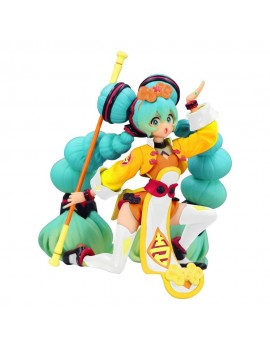 Vocaloid Noodle Stopper PVC Statue Hatsune Miku China Dress Color Variation 10 cm