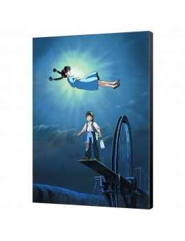 Castle in the Sky Wooden Wall Art Characters 35 x 50 cm