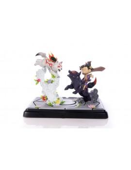 Okamiden Statue Chibiterasu vs. Dark Chibiterasu & Possessed Kuni 33 cm