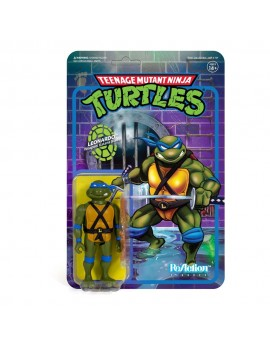 Teenage Mutant Ninja Turtles ReAction Action Figure Leonardo 10 cm