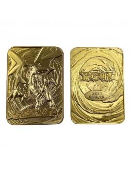 Yu-Gi-Oh! Replica Card Blue Eyes White Dragon (gold plated)