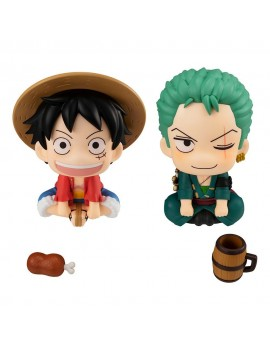 One Piece Look Up PVC Statues Luffy & Zoro Limited Ver. 11 cm