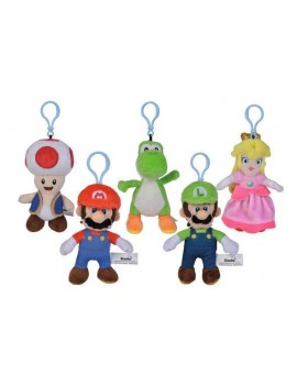 Super Mario Plush Keychains All Stars 13 cm Assortment (12)
