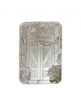 Jurassic Park Replica Metal Entrance Gates (silver plated)