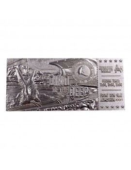 Jurassic Park Replica Mosasaurus Ticket Ticket (silver plated)
