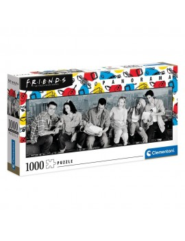 Friends Panorama Jigsaw Puzzle Skyscraper Lunch (1000 pieces)