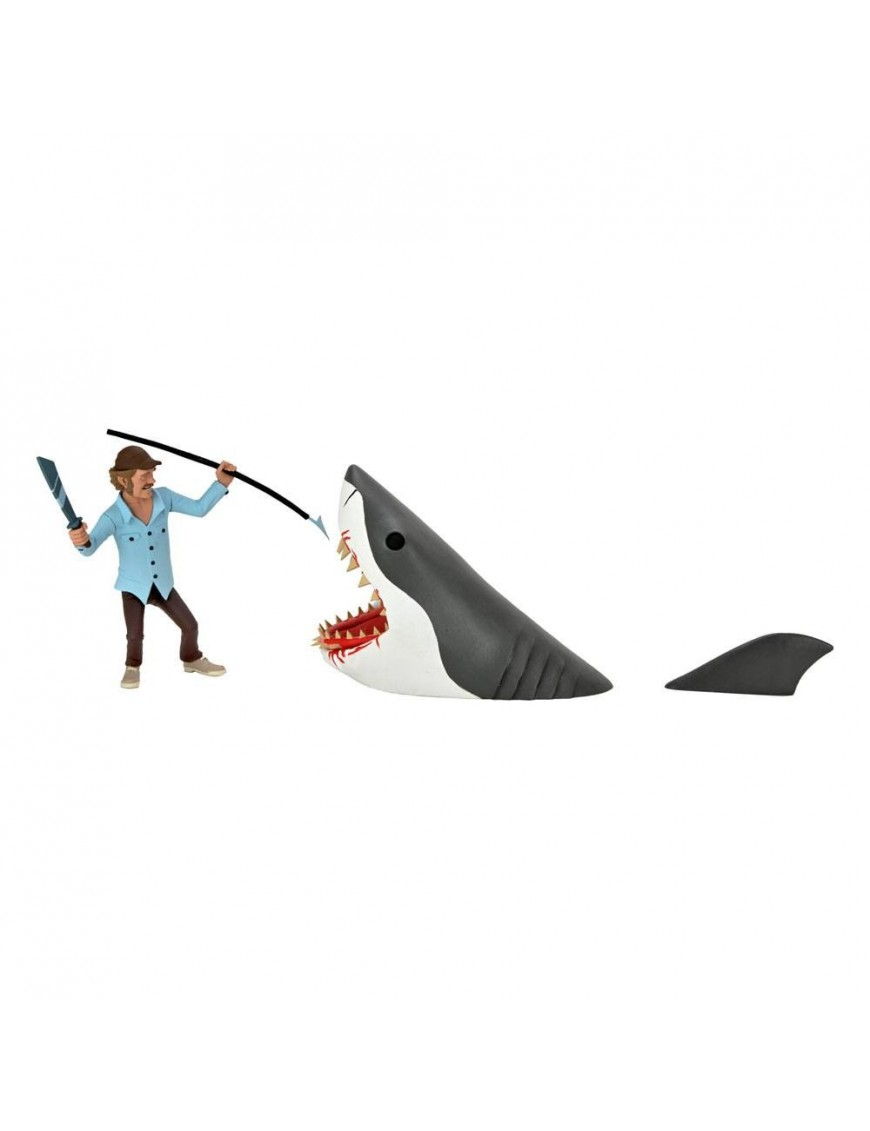 Jaws Action Figures 2-Pack Toony Terrors Jaws & Quint 15 cm