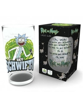 Rick and Morty Pint Glass Get Schwifty