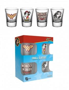 Wonder Woman Shotglass 4-Pack 60´s Pop