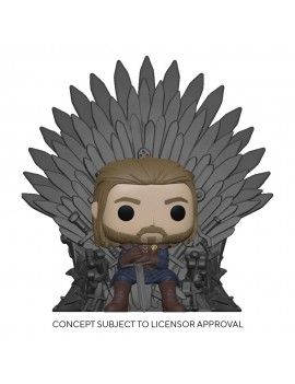 Game of Thrones POP! Deluxe Vinyl Figure Ned Stark on Throne 9 cm