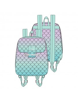 Disney by Loungefly Backpack Little Mermaid Ombre Scales